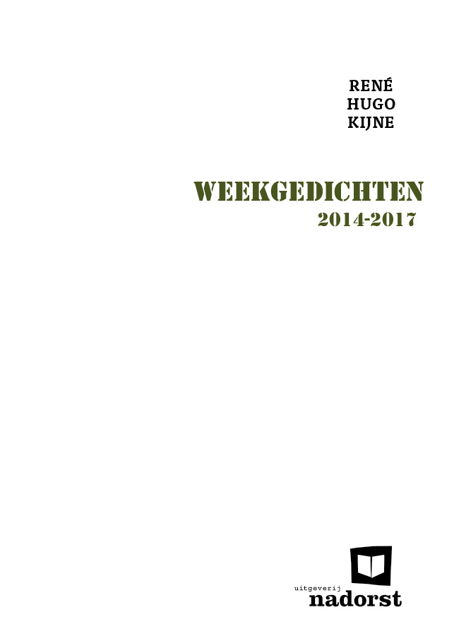 René Kijne – Weekgedichten 2014-2017 voorkant
